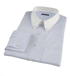 Wrinkle Resistant Blue Multi Stripe Custom Dress Shirt