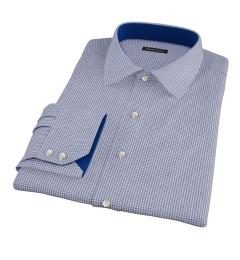 Carmine Navy Mini Check Custom Made Shirt