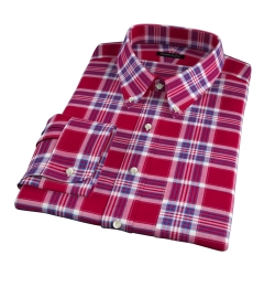Warren Red Large Plaid Fitted Shirt