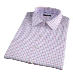 Thomas Mason Crimson Multi Check Short Sleeve Shirt