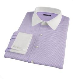 Carmine Lavender Stipe Fitted Shirt