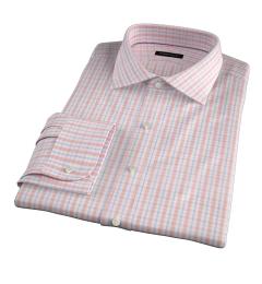 Novara Melon 120s Check Men's Dress Shirt