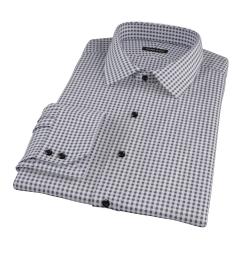 Medium Black Gingham Custom Made Shirt