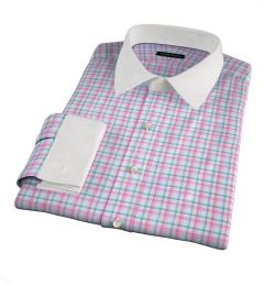 Thomas Mason Pink Spring Plaid Custom Dress Shirt