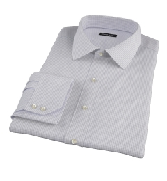 Canclini Grey Mini Gingham Fitted Shirt