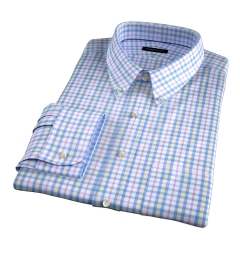 Siena Blue Yellow and Red Multi Check Dress Shirt