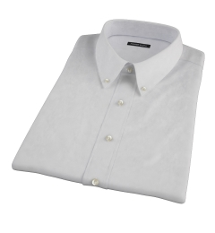 Bowery Light Grey Pinpoint Short Sleeve Shirt