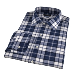 Canclini Slate Plaid Beacon Flannel Dress Shirt