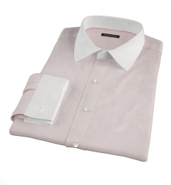 Pink Wrinkle Resistant Cavalry Twill Dress Shirt