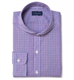 Canclini Purple and Blue Multi Gingham Tailor Made Shirt