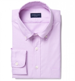 Thomas Mason Lavender Oxford Cloth Custom Dress Shirt
