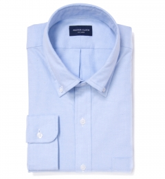 Light Blue Brushed Oxford Dress Shirt