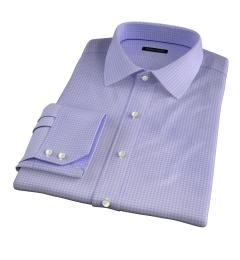 Morris Lavender Small Check Tailor Made Shirt