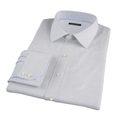 Thomas Mason Goldline Blue Tattersall Dress Shirt