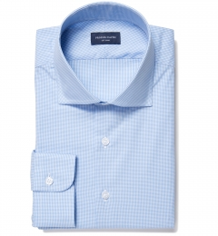 Vestry Light Blue Mini Gingham Tailor Made Shirt