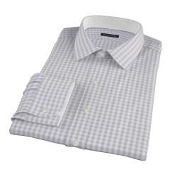 Canclini Grey Gingham Custom Made Shirt