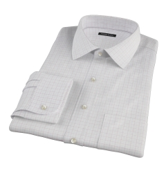 Greenwich Red Twill Check Fitted Dress Shirt
