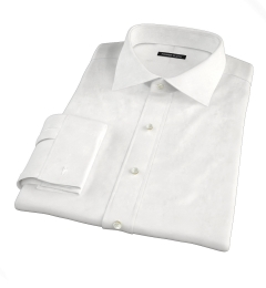 Mercer White Twill Custom Dress Shirt