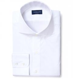 Greenwich White Broadcloth Custom Dress Shirt
