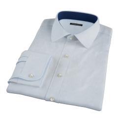 Pale Blue Mini Grid Custom Made Shirt