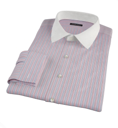 Pink Rainbow Stripe Pinpoint Fitted Shirt