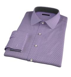 Granada Lavender Print Fitted Shirt