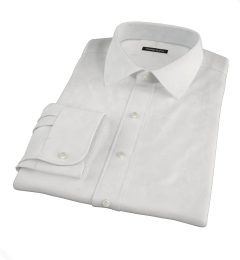 White Peached Heavy Oxford Men's Dress Shirt