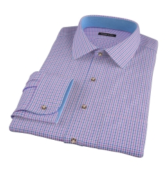 Canclini Purple 120s Multi Gingham Custom Made Shirt