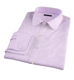 Thomas Mason Goldline Lavender Fine Twill Fitted Dress Shirt