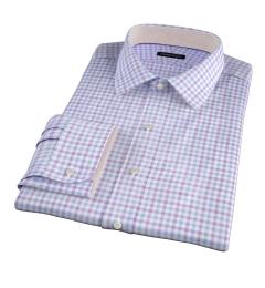 Thomas Mason Violet Multi Check Custom Dress Shirt