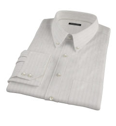 Light Pink Satin Stripe Men's Dress Shirt
