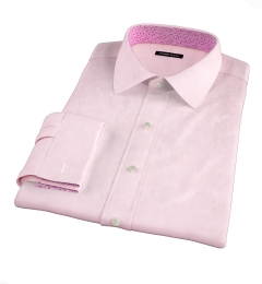 Canclini Pink End on End Fitted Shirt