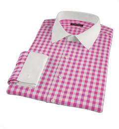 Pink Large Gingham Tailor Made Shirt