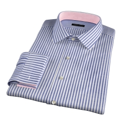 Albini Navy Stripe Oxford Chambray Tailor Made Shirt