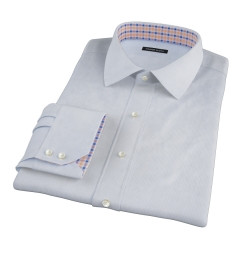 Thomas Mason Light Blue End on End Stripe Dress Shirt