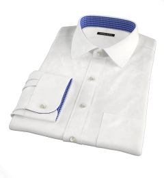 Hudson White Wrinkle-Resistant Twill Men's Dress Shirt