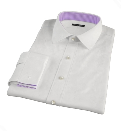 White Wrinkle Resistant Cavalry Twill Men's Dress Shirt
