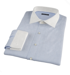 Canclini Dark Blue Fine Stripe Fitted Dress Shirt