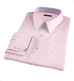 Pink Wrinkle-Resistant Cavalry Twill Custom Dress Shirt