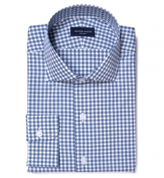 Lorimer Slate Blue Check Fitted Shirt