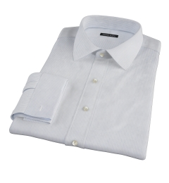 Morton Wrinkle-Resistant Royal Blue Stripe Fitted Shirt