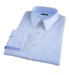 Bowery Blue Wrinkle-Resistant Pinpoint Fitted Shirt