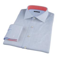 Morris Light Blue Wrinkle Resistant Glen Plaid Custom Dress Shirt