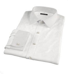 White Stretch Broadcloth Dress Shirt