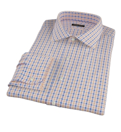 Orange and Blue Gingham Dress Shirt
