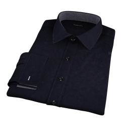 Thomas Mason Black Luxury Broadcloth Tailor Made Shirt