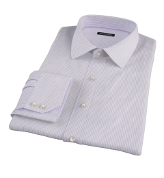 Canclini Lavender Stripe Dress Shirt