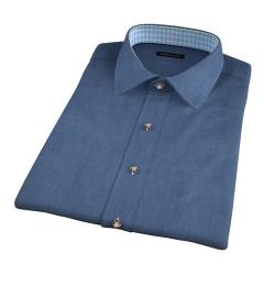 Bleecker Slate Blue Melange Short Sleeve Shirt