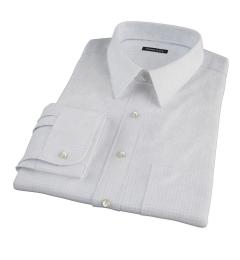 Blue Navy Morton Grid Fitted Dress Shirt