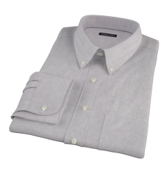 Light Grey Heathered Flannel Custom Made Shirt